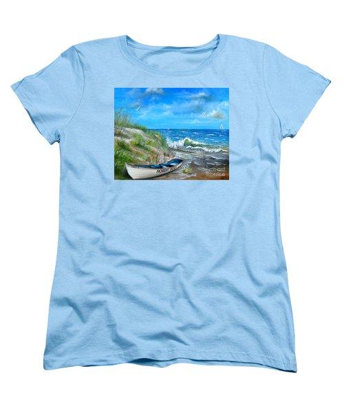 Robert Moses Beach Women's T-Shirt (Standard Cut) by Patrice Torrillo