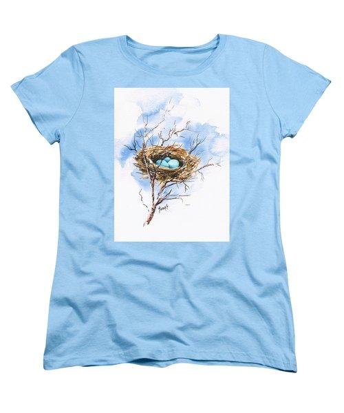 Robin's Nest Women's T-Shirt (Standard Cut) by Sam Sidders