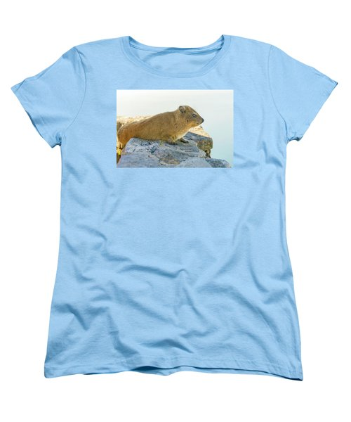 Rock Hyrax On Table Mountain Cape Town South Africa Women's T-Shirt (Standard Cut) by Marek Poplawski
