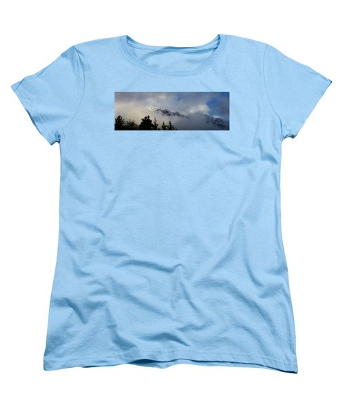 Rockies In The Clouds. Women's T-Shirt (Standard Cut) by Ellery Russell