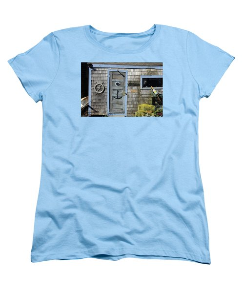 Rockport Fishing Shack Women's T-Shirt (Standard Cut) by Lou Ford