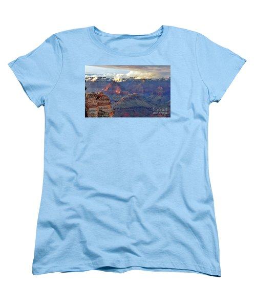 Rocks Fall Into Place Women's T-Shirt (Standard Cut) by Debby Pueschel