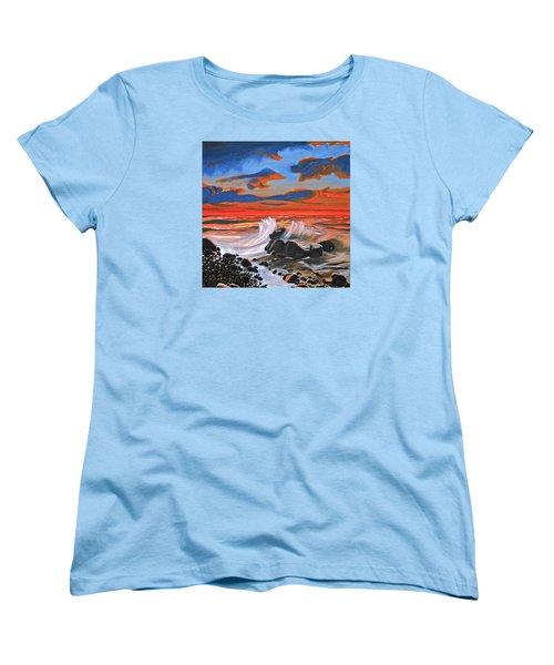 Rocky Cove Women's T-Shirt (Standard Cut) by Donna Blossom