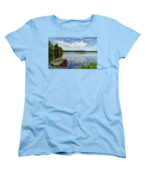 Rocky Fork Lake Women's T-Shirt (Standard Cut) by Cricket Hackmann