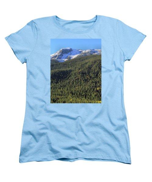 Women's T-Shirt (Standard Cut) featuring the photograph Rocky Mountain Evergreen Landscape by Dan Sproul