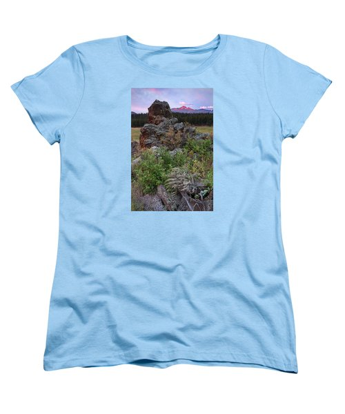 Rocky Mountain Sunrise Women's T-Shirt (Standard Cut) by John Vose