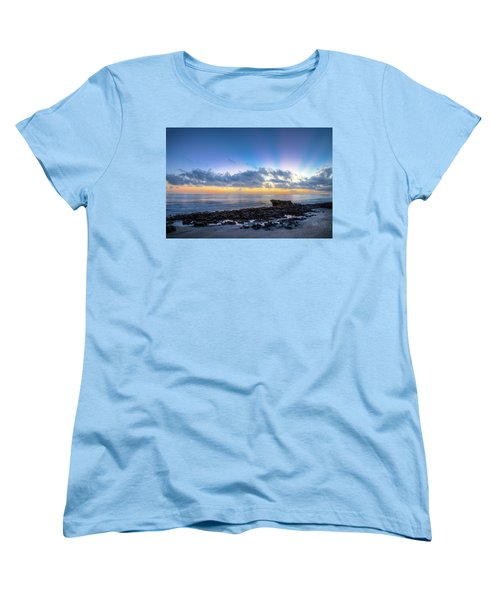 Women's T-Shirt (Standard Cut) featuring the photograph Rocky Reef At Low Tide by Debra and Dave Vanderlaan
