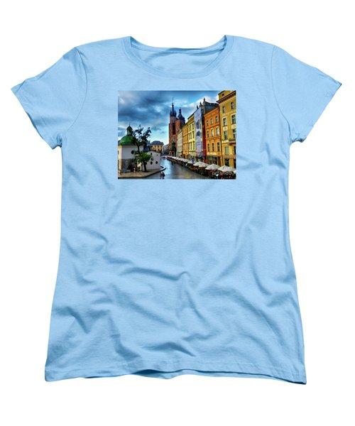Romance In Krakow Women's T-Shirt (Standard Cut) by Kasia Bitner