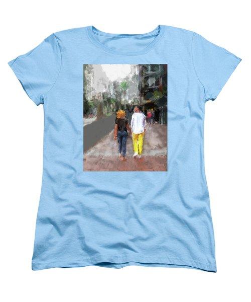 Romantic Couple Women's T-Shirt (Standard Cut)