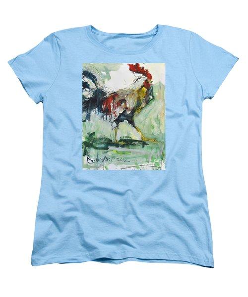 Rooster Painting Women's T-Shirt (Standard Cut) by Robert Joyner