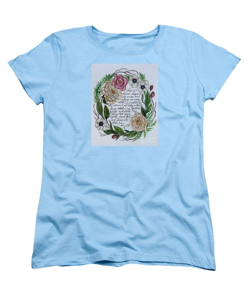 Women's T-Shirt (Standard Cut) featuring the painting Rooted by Elizabeth Robinette Tyndall