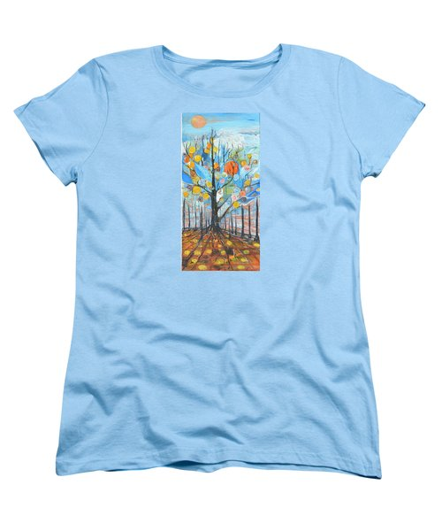Roots Women's T-Shirt (Standard Cut) by Evelina Popilian