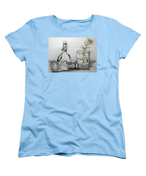 Women's T-Shirt (Standard Cut) featuring the drawing Rosemary by Terri Mills