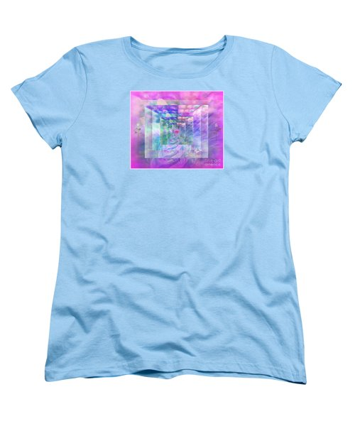Roses Are Red Violets Are Blue These Roses Are Just For You Women's T-Shirt (Standard Cut) by Sherri's Of Palm Springs