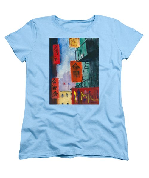 Ross Alley, Chinatown Women's T-Shirt (Standard Cut) by Tom Simmons
