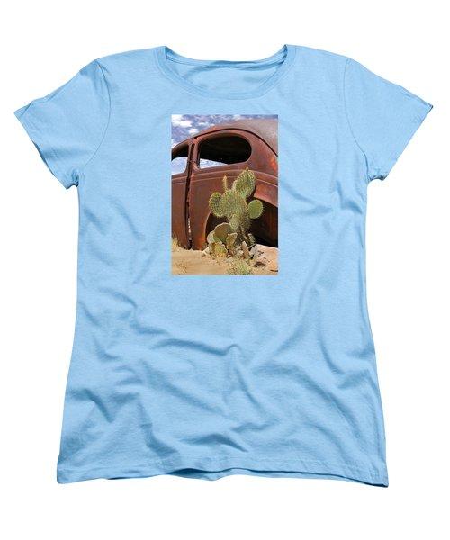 Route 66 Cactus Women's T-Shirt (Standard Cut) by Mike McGlothlen