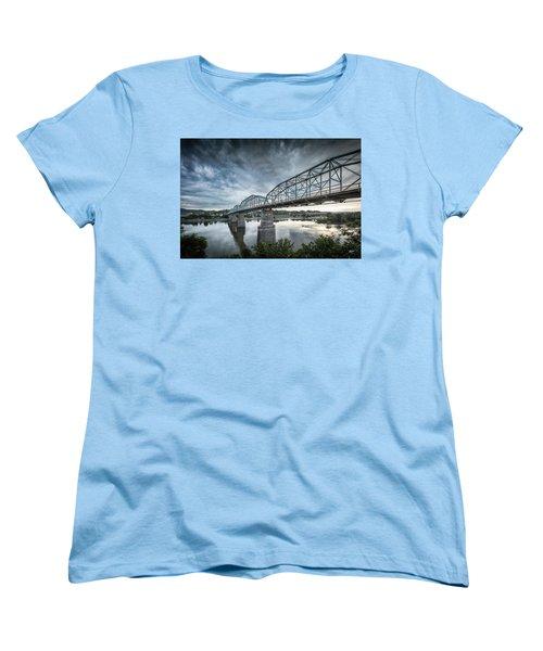 Rowing Under Walnut Street Women's T-Shirt (Standard Cut) by Steven Llorca