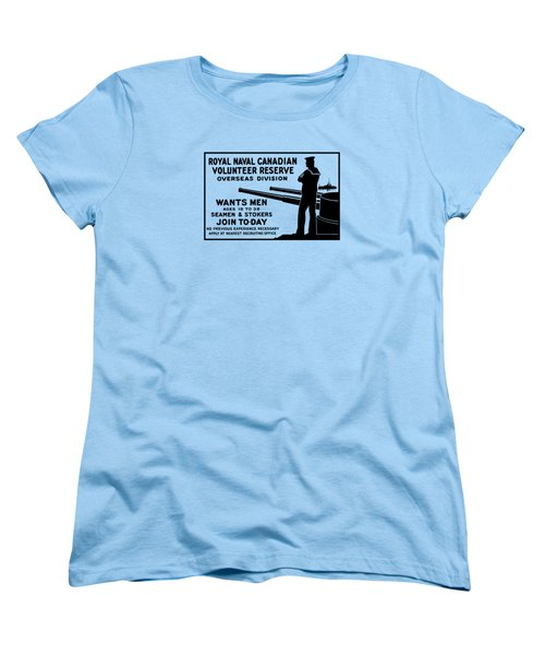 Women's T-Shirt (Standard Cut) featuring the mixed media Royal Naval Canadian Volunteer Reserve by War Is Hell Store