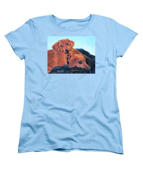 Ruby And Rainbow Women's T-Shirt (Standard Cut)