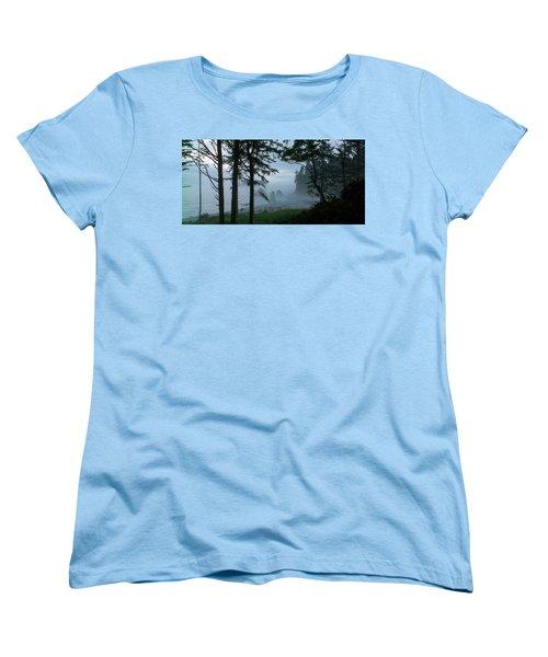 Ruby Beach II Washington State Women's T-Shirt (Standard Cut) by Greg Reed
