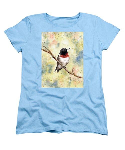 Ruby Throated Hummingbird Women's T-Shirt (Standard Cut)