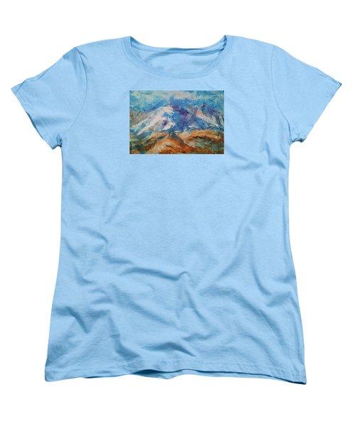 Rugged Terrain Women's T-Shirt (Standard Cut) by Becky Chappell