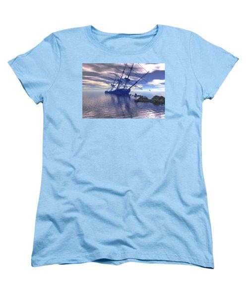 Run Aground Women's T-Shirt (Standard Cut) by Claude McCoy