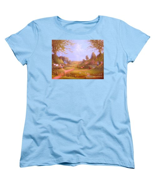 Run Bilbo Late For An Appointment Women's T-Shirt (Standard Cut) by Joe  Gilronan