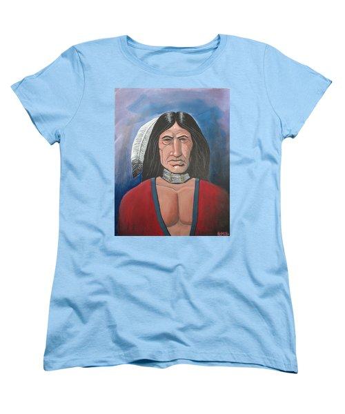 Women's T-Shirt (Standard Cut) featuring the painting Running Bear by Antonio Romero