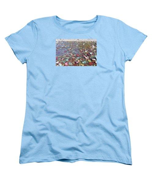 Women's T-Shirt (Standard Cut) featuring the photograph Running Eagle Falls by Dacia Doroff