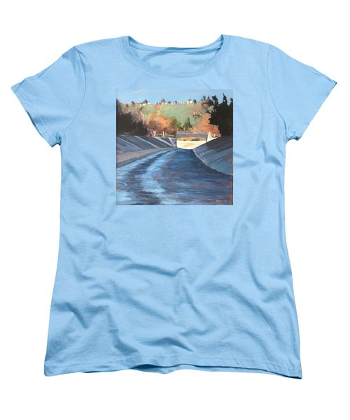 Running The Arroyo, Wet Women's T-Shirt (Standard Cut) by Richard Willson