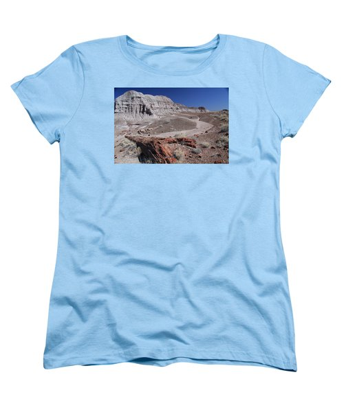 Runoff Obstacle Women's T-Shirt (Standard Cut) by Gary Kaylor