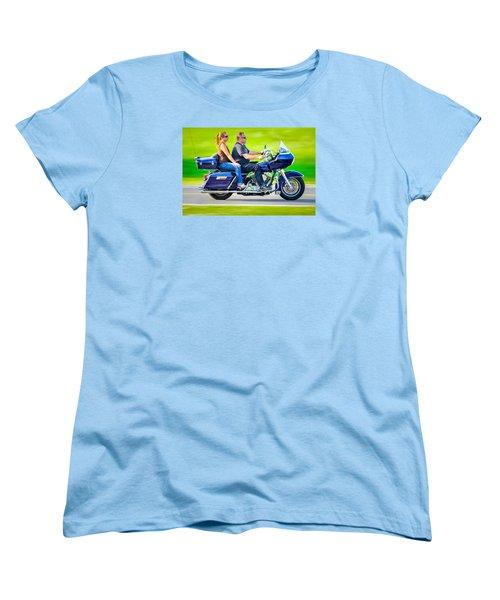 Women's T-Shirt (Standard Cut) featuring the photograph Rural Ride 2 by Brian Stevens