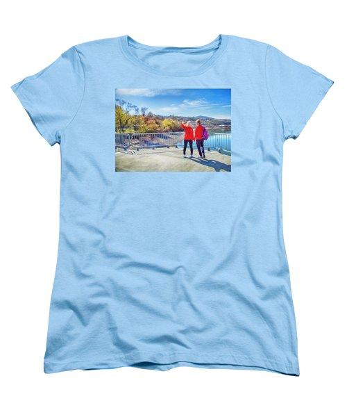 Russian Selfie Women's T-Shirt (Standard Cut) by Theresa Tahara