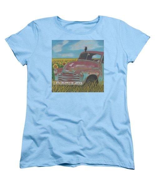 Rust And Gold Women's T-Shirt (Standard Cut) by Arlene Crafton