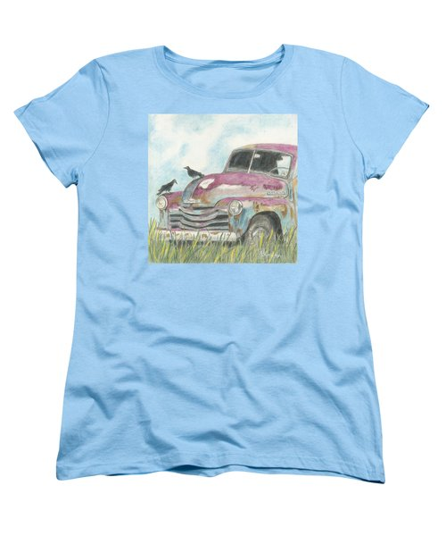 Women's T-Shirt (Standard Cut) featuring the drawing Rust In Peace by Arlene Crafton