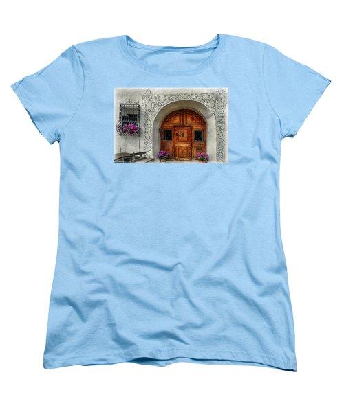 Rustic Front Door Women's T-Shirt (Standard Cut) by Hanny Heim
