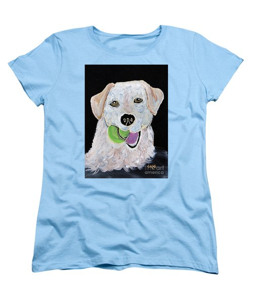 Women's T-Shirt (Standard Cut) featuring the painting Rusty On Canvas by Janice Rae Pariza