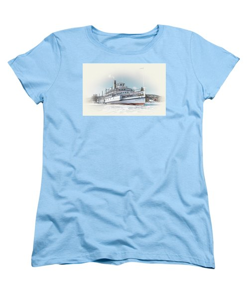 Women's T-Shirt (Standard Cut) featuring the photograph S. S. Sicamous II by John Poon