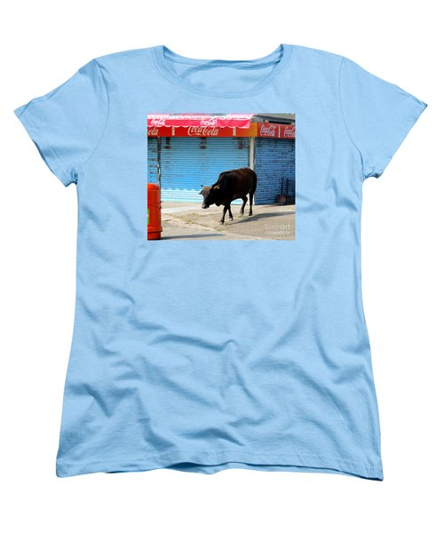 Women's T-Shirt (Standard Cut) featuring the photograph Sacred Cow 1 by Randall Weidner