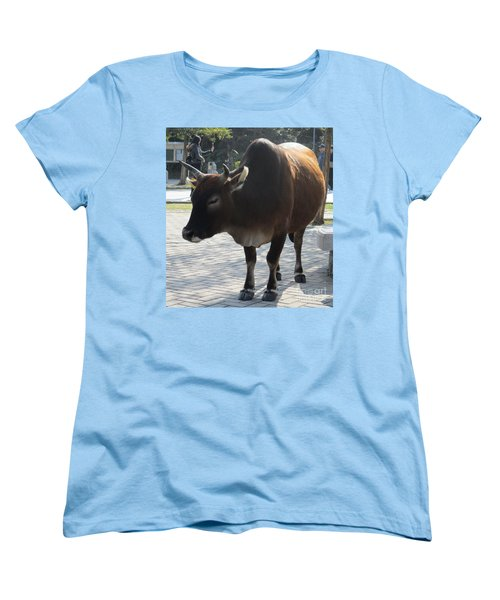 Women's T-Shirt (Standard Cut) featuring the photograph Sacred Cow 2 by Randall Weidner