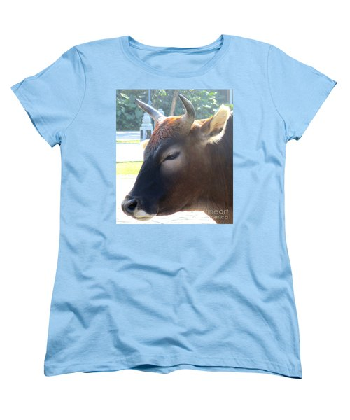 Women's T-Shirt (Standard Cut) featuring the photograph Sacred Cow 4 by Randall Weidner
