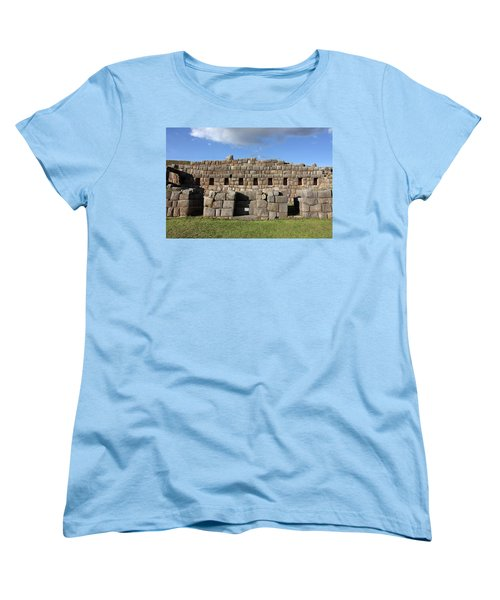 Women's T-Shirt (Standard Cut) featuring the photograph Sacsaywaman Cusco, Peru by Aidan Moran