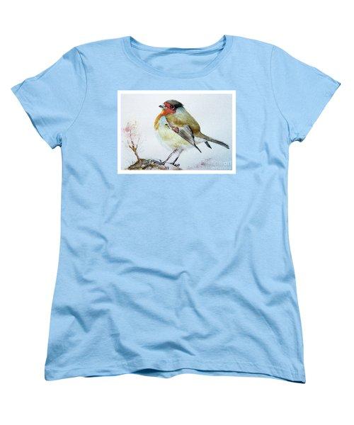 Sad Robin Women's T-Shirt (Standard Cut) by Jasna Dragun