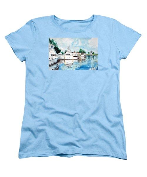 Safe Harbor Women's T-Shirt (Standard Cut) by Jim Phillips
