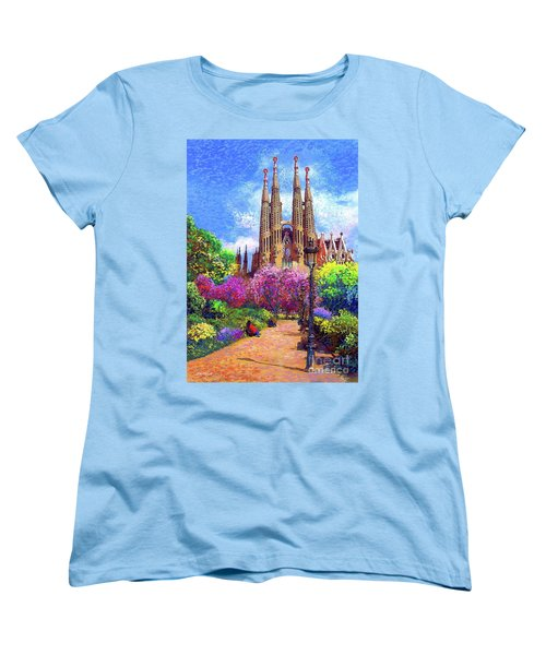 Sagrada Familia And Park Barcelona Women's T-Shirt (Standard Fit)