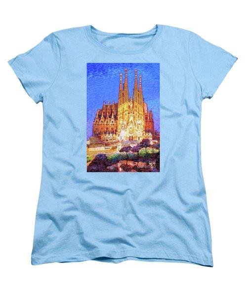 Sagrada Familia At Night Women's T-Shirt (Standard Fit)