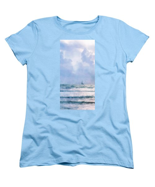 Sail At Sea Women's T-Shirt (Standard Cut) by Francesa Miller