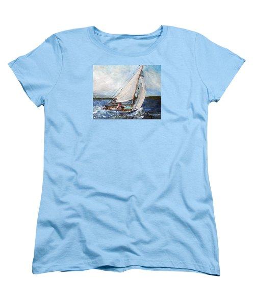 Sail Away Women's T-Shirt (Standard Cut) by Michael Helfen