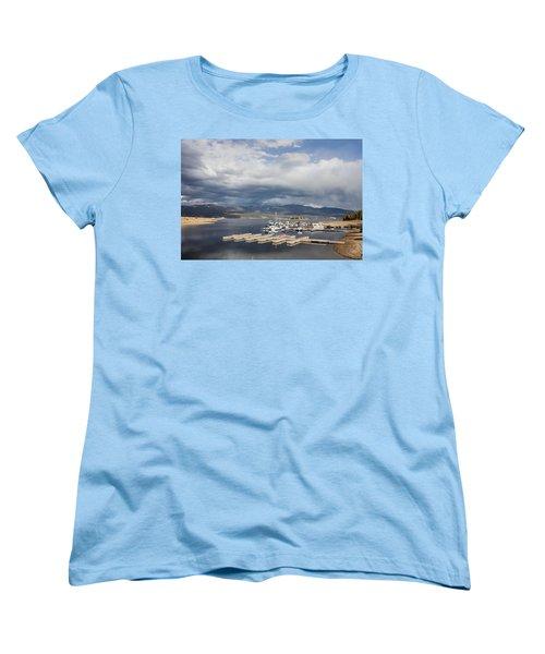 Sailboat Slips On Lake Granby In Grand County Women's T-Shirt (Standard Cut) by Carol M Highsmith
